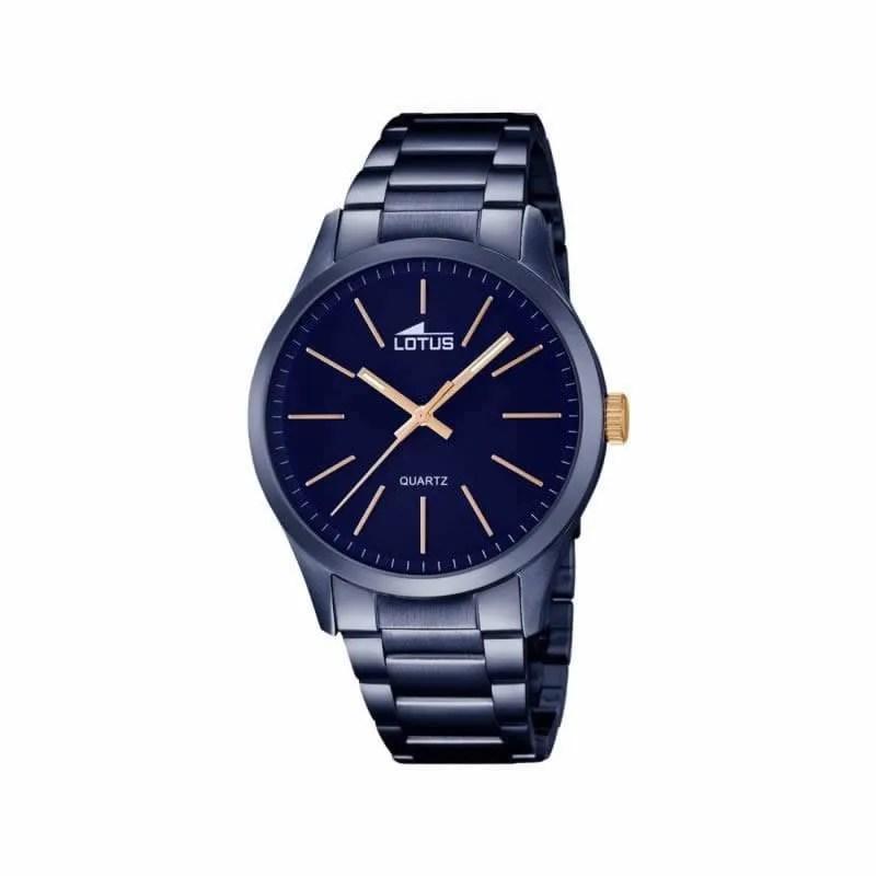 Reloj Lotus 18163 2 de hombre NEW con caja y brazalete de acero ip azul b2e33b20ce30