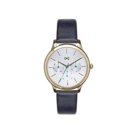 Reloj Mark Maddox MC7103-07 de mujer NEW con caja de acero chapado y correa de piel colección Village