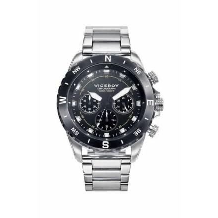 Reloj Viceroy 471115-57 de hombre NEW con caja y brazalete de acero inox cronógrafo colección Heat