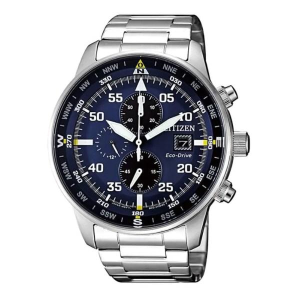 Reloj Citizen CA0690-88L de hombre NEW con caja y brazalete de acero cronógrafo Aviator