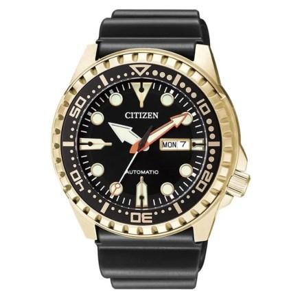 Reloj Citizen NH8383-17E de hombre NEW con caja de acero ip chapada en oro y correa de caucho Automático