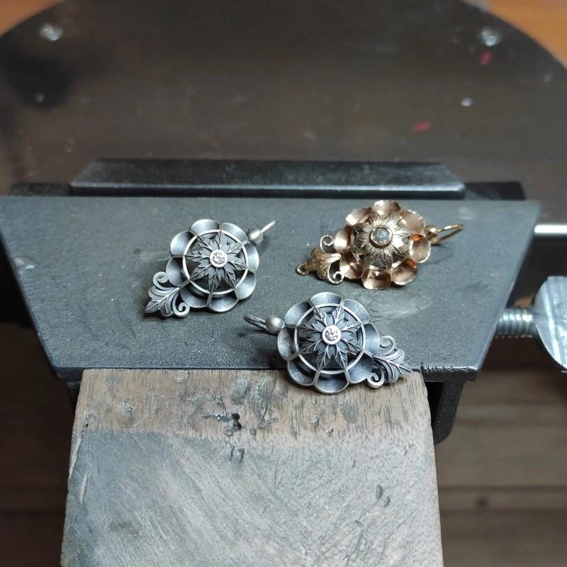 pendientes de plata tipo antiguo joyería Zaragoza