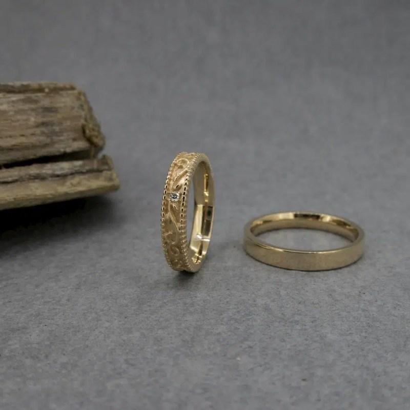 alianza de boda vintage