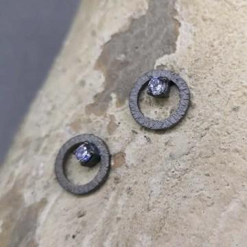 pendientes de plata origen lavanda