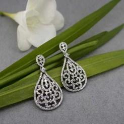 Pendientes de plata para novia en joyería en zaragoza