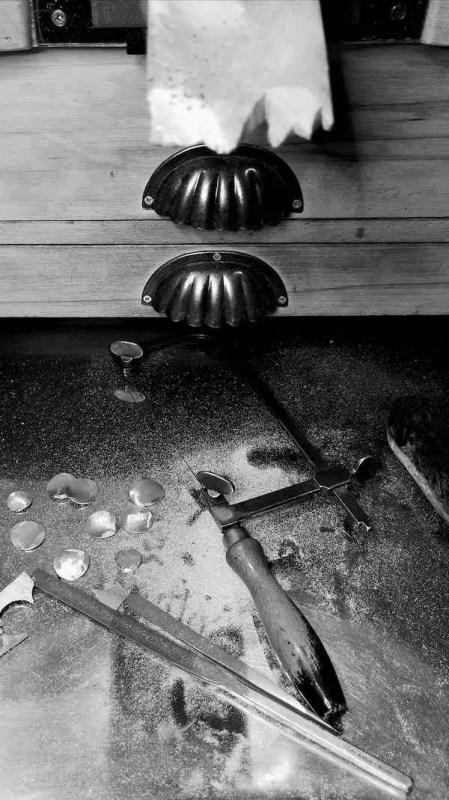 mesa de trabajo taller de joyería