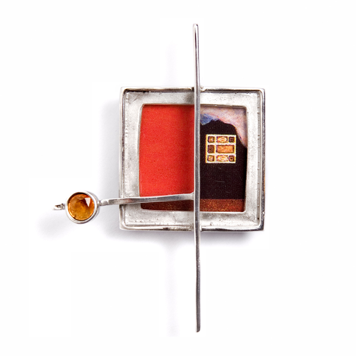 Broche Klimt rojo