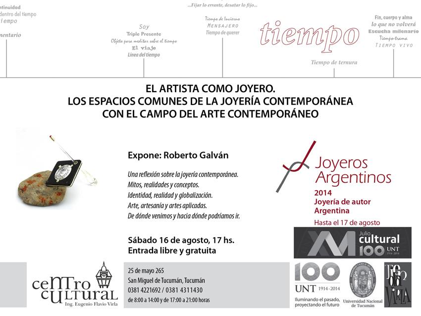 El artista como joyero, charla a cargo de Roberto Galván en el Virla (Tucumán)