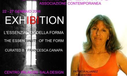 «La esencia de la forma», muestra en Italia con la participación de Patricia Alvarez
