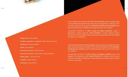 Joyas en hilos, formas y colores, exposición de Jessica Morillo en Brasil