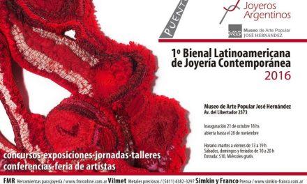 """INAUGURACION: 1º Bienal Latinoamericana de Joyería Contemporánea """"Puentes"""""""