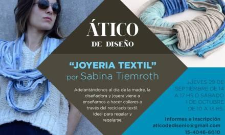 Taller de joyería textil, por Sabina Tiemroth