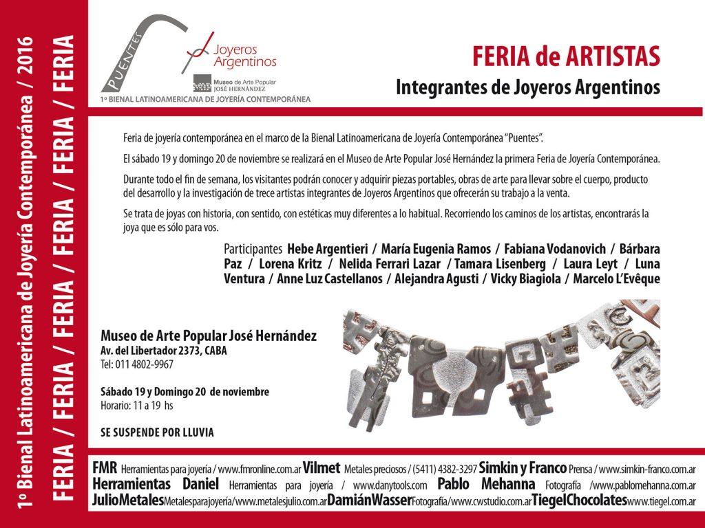 bfb9bb40ab5f El sábado 19 y domingo 20 de noviembre se realizará en el Museo de Arte  Popular José Hernández la primera Feria de Joyería Contemporánea.