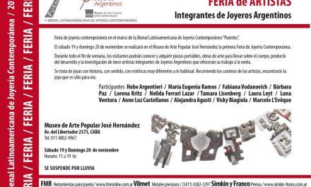 Feria de joyería contemporánea en el marco de la Bienal
