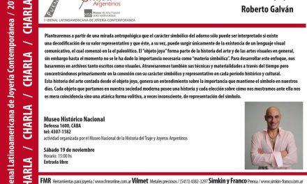 Historia de la joya, charla de Roberto Galván en el marco de la Bienal