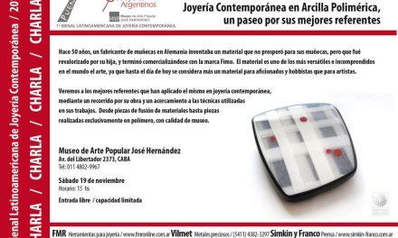 Joyería contemporánea con arcilla polimérica, charla de Sandra Pulgar en el marco de la Bienal