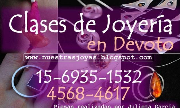 Taller de joyería en Devoto, a cargo de Julieta García
