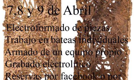 Workshop de electroformado, a cargo de Rafael Alvarez