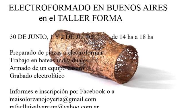 Curso de electroformado, a cargo de Rafael Alvarez (Buenos Aires)