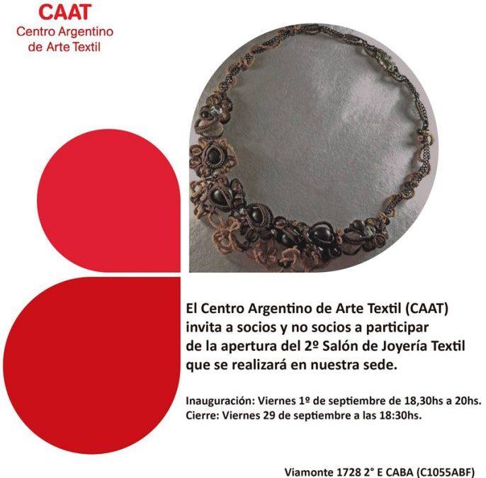Patricia Alvarez, Fabiana Vodanovich, Vicky Biagiola y Patricia Trigub seleccionadas el el 2º Salón de Joyería Textil del CAAT