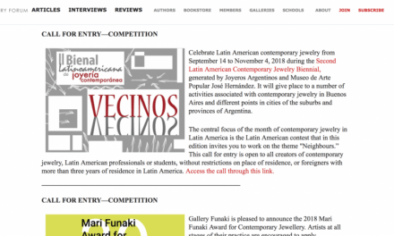 La Bienal Latinoamericana de Joyería Contemporánea en AJF