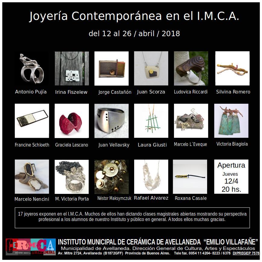 joyería contemporánea en el IMCA