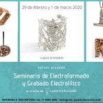 electroformado y grabado electrolítico en el taller de Ludovica Riccardi, a cargo de R. Alvarez