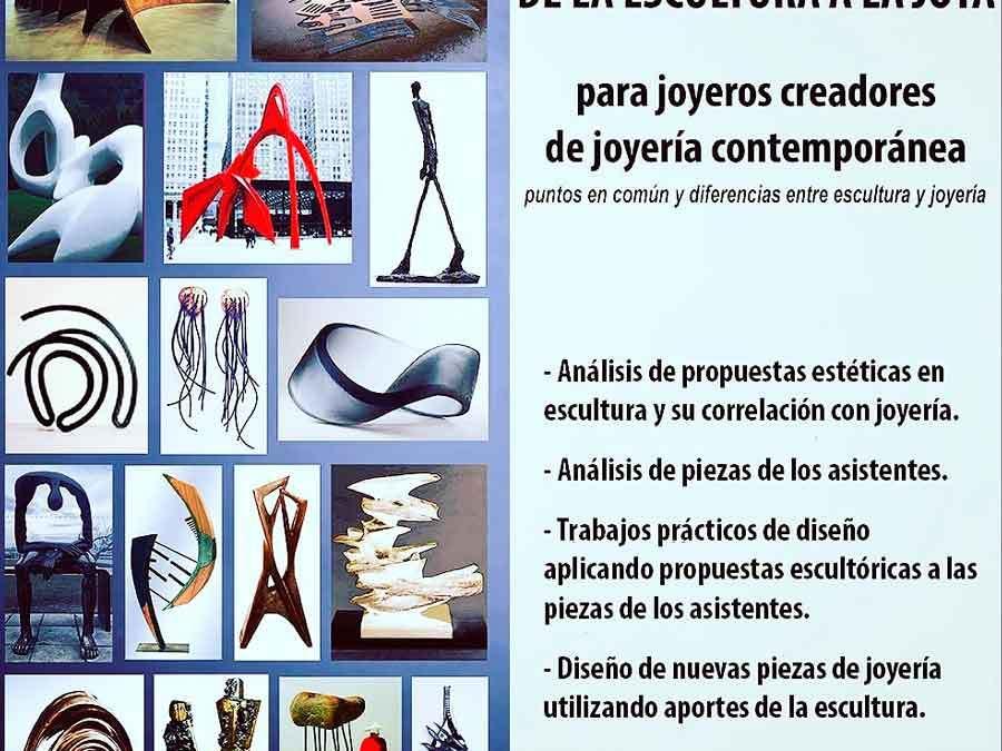 Taller online «De la escultura a la joya», a cargo de Beatriz Bekerman