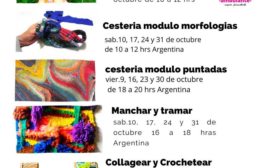 Talleres textiles en octubre