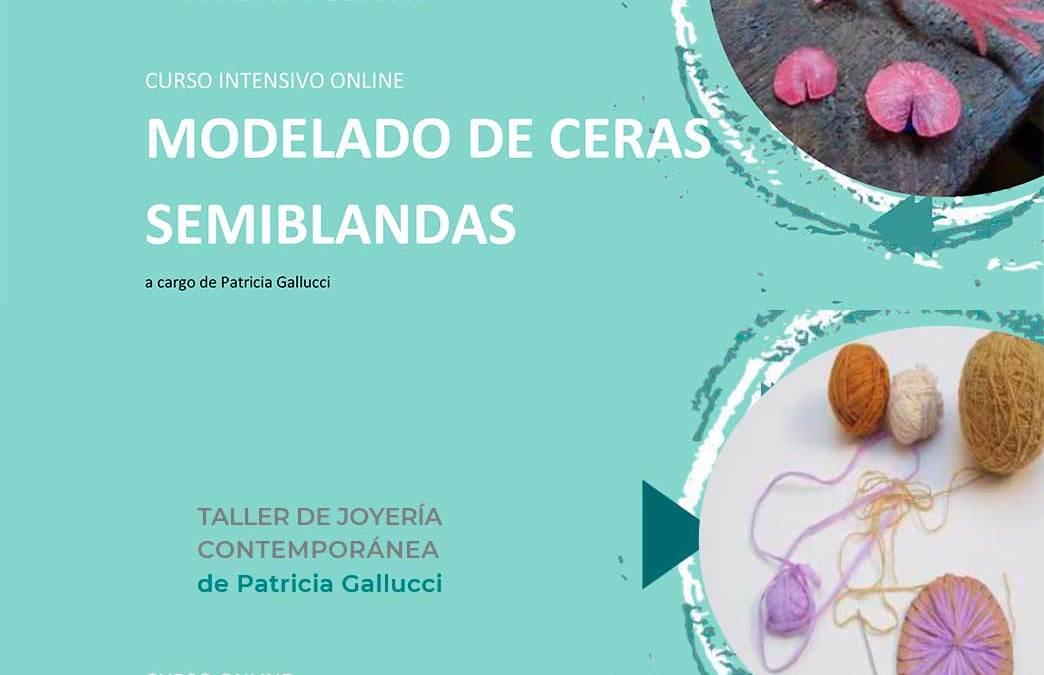 Nuevos talleres online en Patricia Gallucci taller.