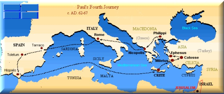 Paul's 4th Missionary Journey