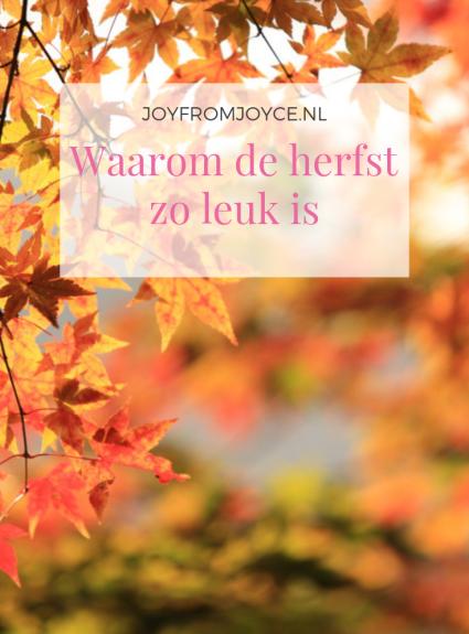 Waarom de herfst zo leuk is