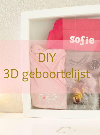 DIY – 3D geboortelijst