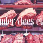 Minder vlees eten