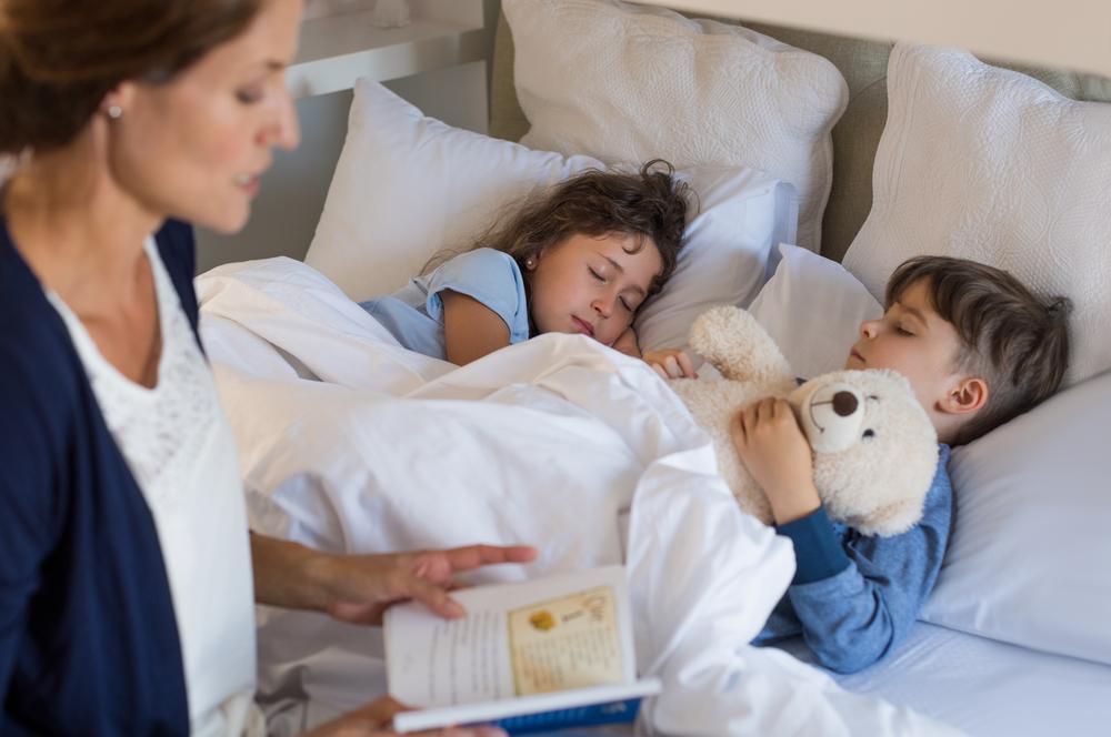 Jeetje wat gaan jullie kinderen vroeg op bed