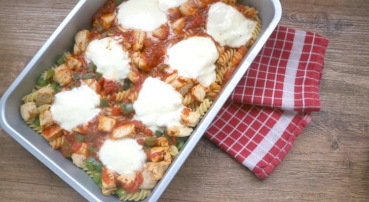 Recept   Pasta met kalkoen uit de oven
