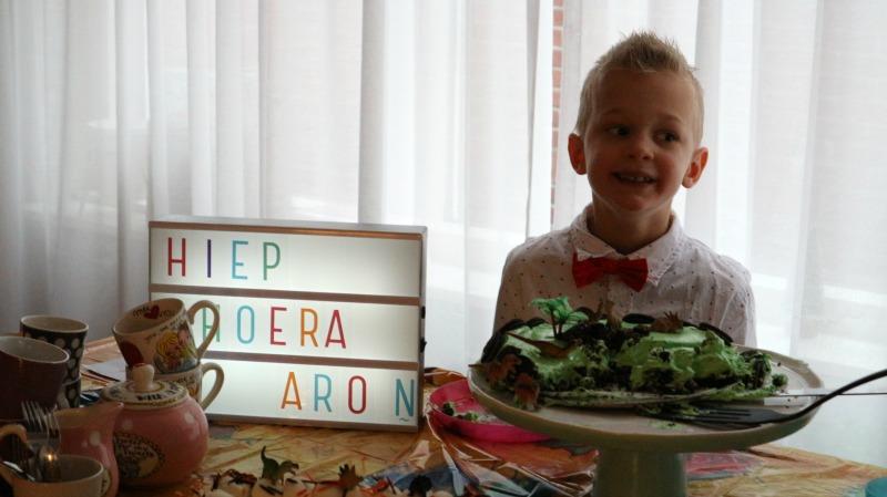 Hoera Aron 7 jaar!