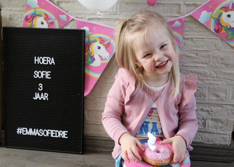 Hoera! Sofie is 3 jaar!
