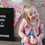 Hoera! Sofie is 3 jaar!