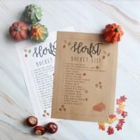 GRATIS printable voor de ultieme herfst bucketlist