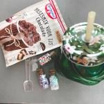 Cadeau voor juf of meester met Dr Oetker mix voor ijs!