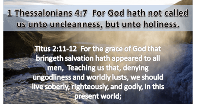 God's Holiness and Our Reaction