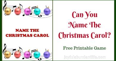 Can You Name The Christmas Carol? Free Printable Christmas Game