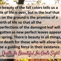 Death Is Beautiful In God's Sight