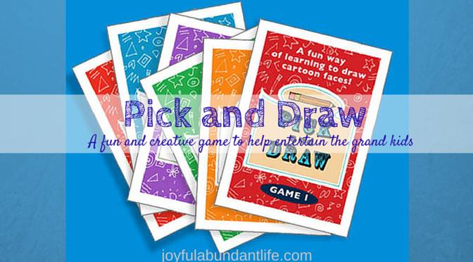 Pick and Draw - great creative fun game that will help entertain the grand kids!