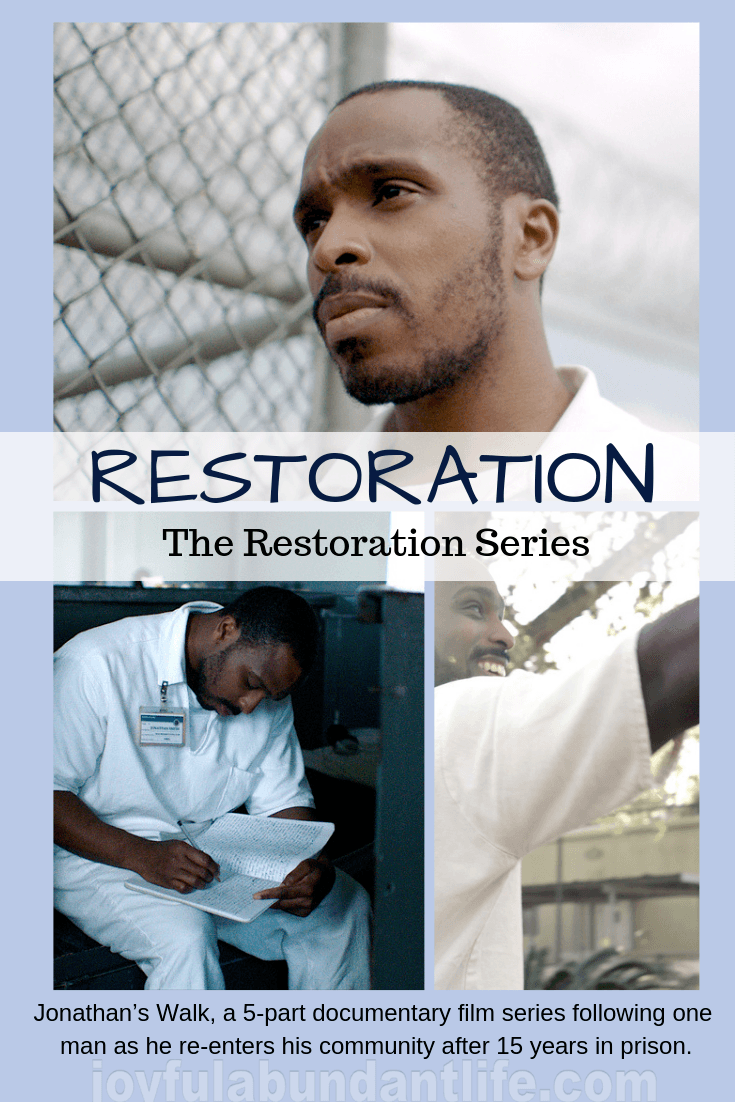 Jonathan's Walk, a 5-part documentary film series following one man as he re-enters his community after 15 years in prison.