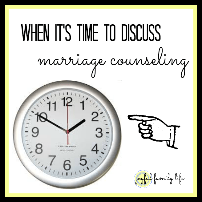 When is it time for marriage counseling?