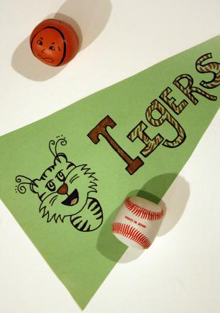 Create Your Own Baseball Pennant