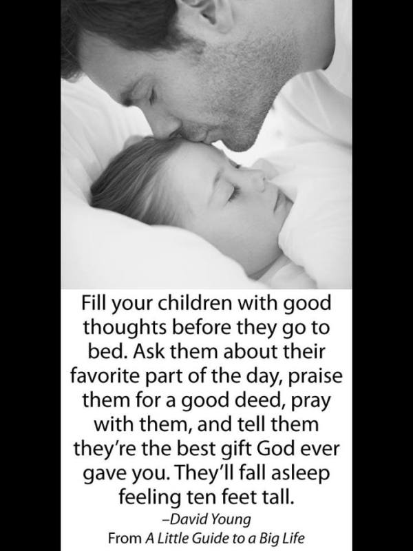 Fill your children with good messages