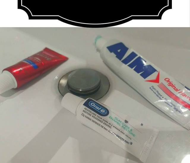 Toothpaste pinterest graphic